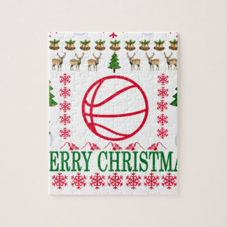 BASKET BALL MERRY CHRISTMAS . JIGSAW PUZZLE