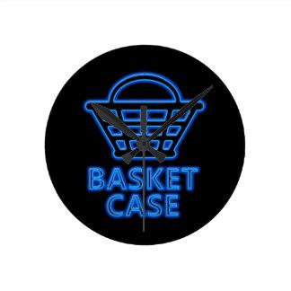 Basket case. round clock