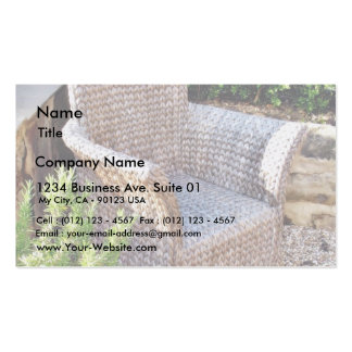 Basket Chair Furniture Business Card Templates