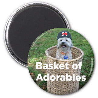 Basket of Adorables: Adorable Dogs for Hillary Mag Magnet
