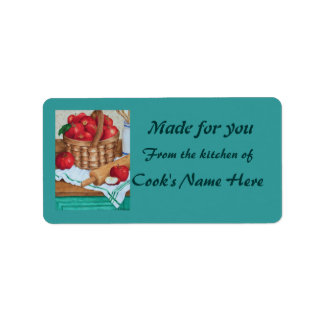 Basket of Apples - From the kitchen of - Label