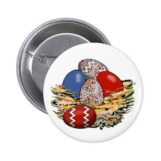 Basket of Colorful Easter Eggs 15 Buttons