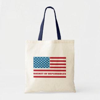Basket of Deplorables American Flag Thin Line Budget Tote Bag