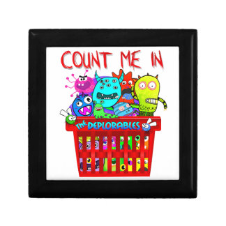 Basket of Deplorables, Count me in Small Square Gift Box