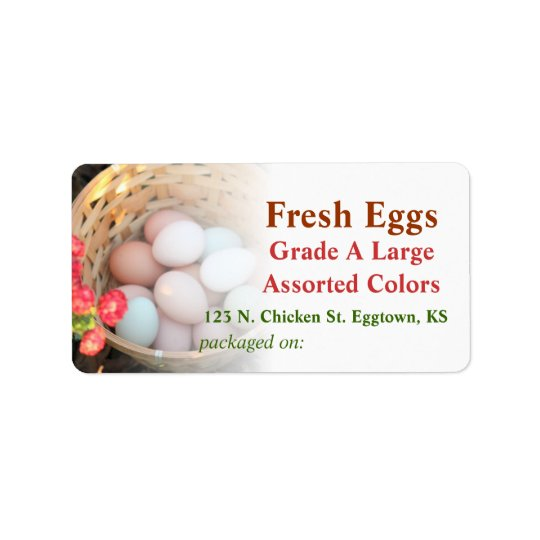 Basket of Eggs Label Address Label