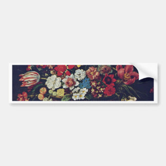 Basket Of Flowers By Linard Jaques (Best Quality) Bumper Stickers