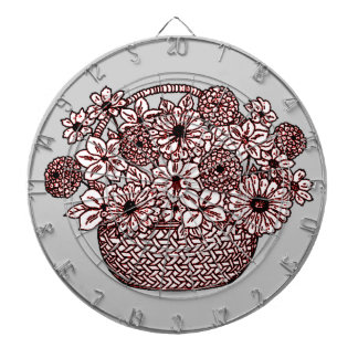 Basket of Flowers Dartboard