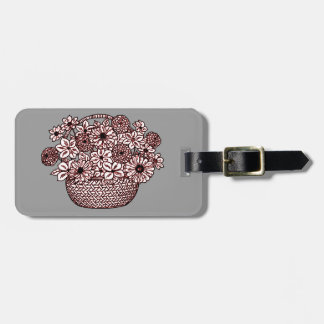 Basket of Flowers Luggage Tag