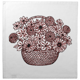 Basket of Flowers Napkin