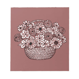 Basket of Flowers Notepad