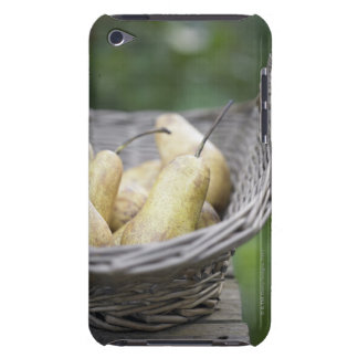 Basket of freshly picked pears barely there iPod covers