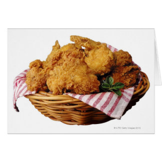 Basket of fried chicken greeting card