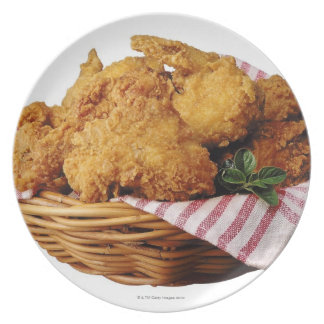 Basket of fried chicken party plate