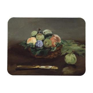 Basket of Fruit by Edouard Manet Magnet