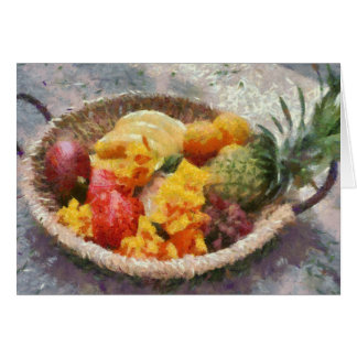 Basket of Fruit Card