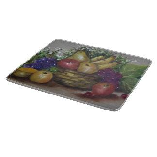 Basket  of fruits cutting board