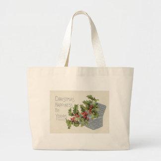 Basket of Holly Winterberry Jumbo Tote Bag