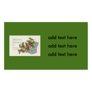Basket of Holly Winterberry Pack Of Standard Business Cards