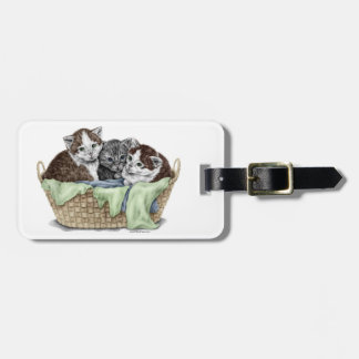 Basket of Kittens Luggage Tag