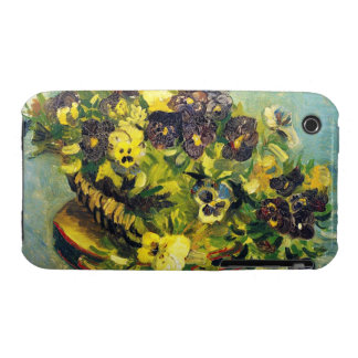 Basket of Pansies on a Table Vincent van Gogh iPhone 3 Case