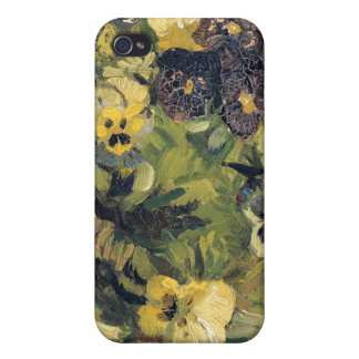 Basket of Pansies, Vincent Van Gogh Cover For iPhone 4