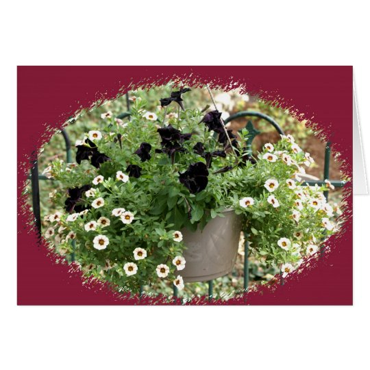 Basket of Petunias Card