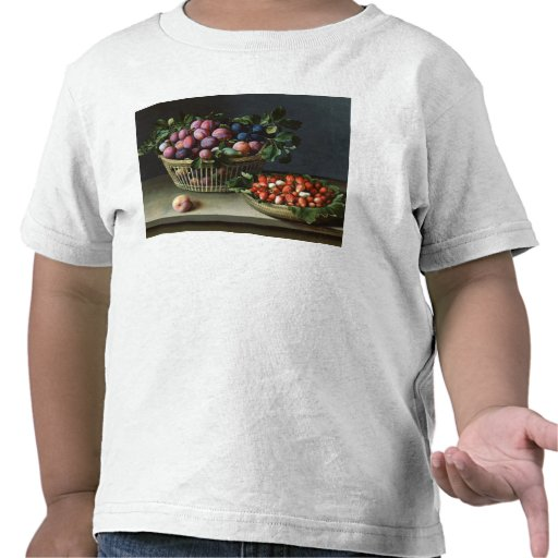 Basket of Plums and Basket of Strawberries, 1632 Shirt