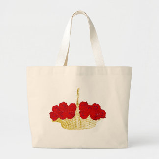 Basket of Red Roses Jumbo Tote Bag