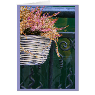 basket on fence card