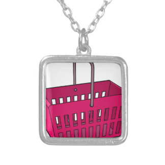 Basket Silver Plated Necklace