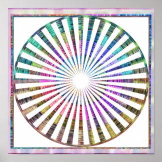 BASKET  Weave Celicial Cosmic Rythem Mandala Poster