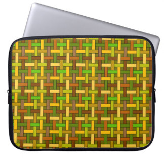 Basket weave laptop sleeve