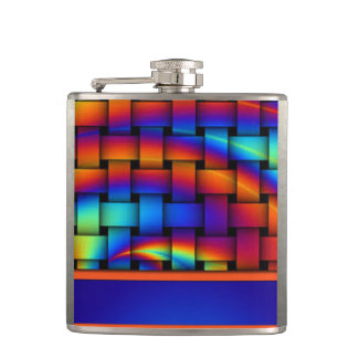 Basket Weave Pattern Design Hip Flask