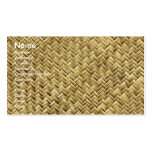 Basket weave pattern texture pack of standard business cards