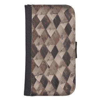 Basket Weave Samsung Galaxy S4 Wallet Case