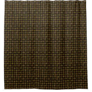 Basket Weave Woven Design Shower Curtain