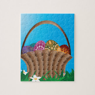 Basket with easter eggs jigsaw puzzle