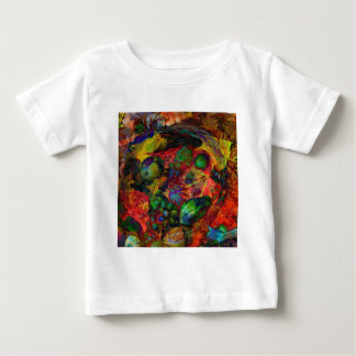 Basket with fruits and fall leaves baby T-Shirt