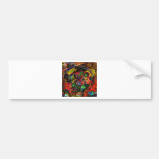 Basket with fruits and fall leaves bumper sticker