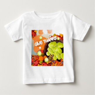 Basket with tennis ball in Thanksgiving Baby T-Shirt
