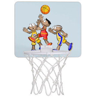 Basketbal Three players jumping Mini Basketball Hoop