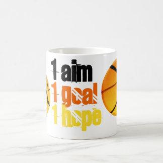 Basketball 1 aim, goal and hope mug