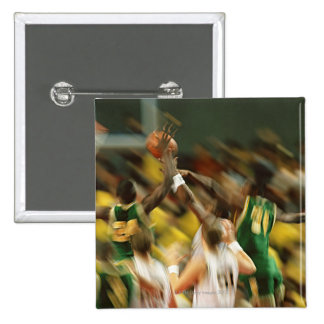 Basketball 3 15 cm square badge