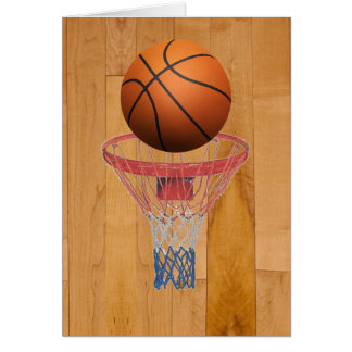 Basketball - 3D Effect Greeting Card
