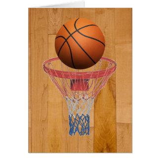 Basketball - 3D Effect Greeting Card