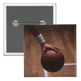 Basketball 6 15 cm square badge