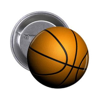 Basketball 6 Cm Round Badge