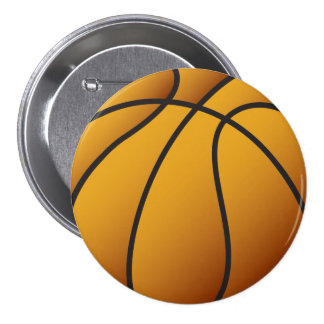 Basketball 7.5 Cm Round Badge