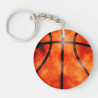 Basketball All Day Grunge Style Double-Sided Round Acrylic Key Ring