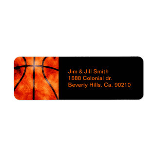 Basketball All Day Grunge Style Return Address Label